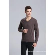 Yak lã V Neck Pullover camisola de manga comprida / vestuário / roupas / malhas