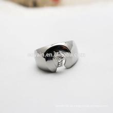 Hochpolierter Edelstahl-Verlobungs-Hochzeits-Mens-Ring
