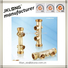 forged brass manifold for heating HVAC two port manifold