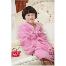 Stocked Chepest polyester coral fleece bathrobe for Girls Age Group
