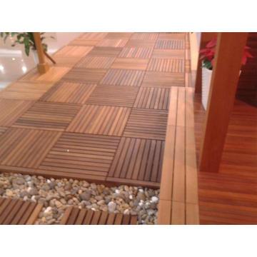 Red Cedar Parquet Decking Wood Flooring