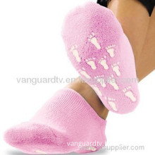 Gel Heel Socks Moisturizes Cracked Dry Heels Soft Foot Care Spa