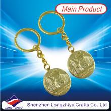 Custom Cheap Gold Plating Keyrings Embossed Logo Keyrings (LZY800032)