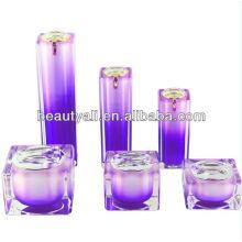 square acrylic cream jar 10g 30g 50g