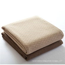 15PKQT01 2015 new 100%cotton light air travelling blanket