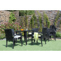 Latest Patio Garden Dining Set Poly Rattan Wicker Furniture with Stackable Chairs