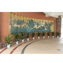 Tema hotel Relief patung