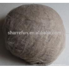 Fibre de cachemire de l'Afghanistan marron foncé 17.5-18.0mic 26-38mm