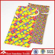 Bolsa de tela de microfibra para gafas, bolsas personalizadas de gafas de sol