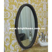 Зеркальное зеркало для туалетной комнаты Rattan Wicker Bp-M33