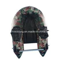 Bateau de pêche de petit bateau gonflable couleur vert militaire