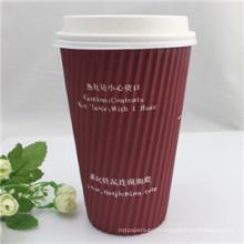 350ml Tirez la tasse de papier de café avec le couvercle de picoseconde