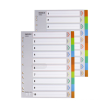 One Stop Shopping Office Supplies A4 Color index paper dividers