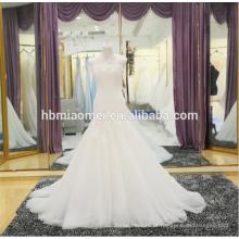 Mais recente vestido de noiva 2018 vestido de noiva de renda fora do ombro comprar vestido de noiva china