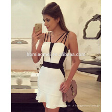 2017 hot sell party wear mulheres vestido sexy blackless pacote hip dress mulheres partido