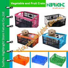 baby toys storage crates/cute crate/plastic storage mesh box crate