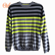 Latest Fashion Crew neck Striped Sweater