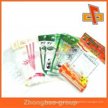 Retención de la frescura personalizada bolsa de nylon de plástico para el envasado de snack