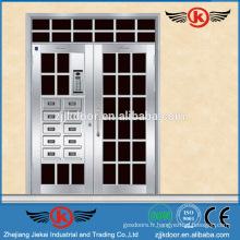 JK-SS9015 Unique Home Design Sécurité Porte d'entrée en acier inoxydable de luxe