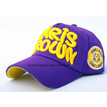 China Factory OEM Produce Customized Logo Applique Embroidered Cotton Promotional Baseball Cap