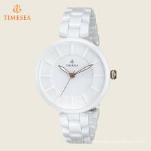 Women′s Analog Display Japanese Quartz White Watch 71198