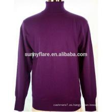 Suéter de cachemir puro de alta calidad para hombres