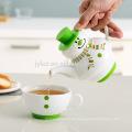 Teetasse-Topf des Weihnachtsgeschenks populärer in einem