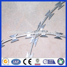 professional galvanized concertina razor barbed wire, razor barbed wire, razor wire