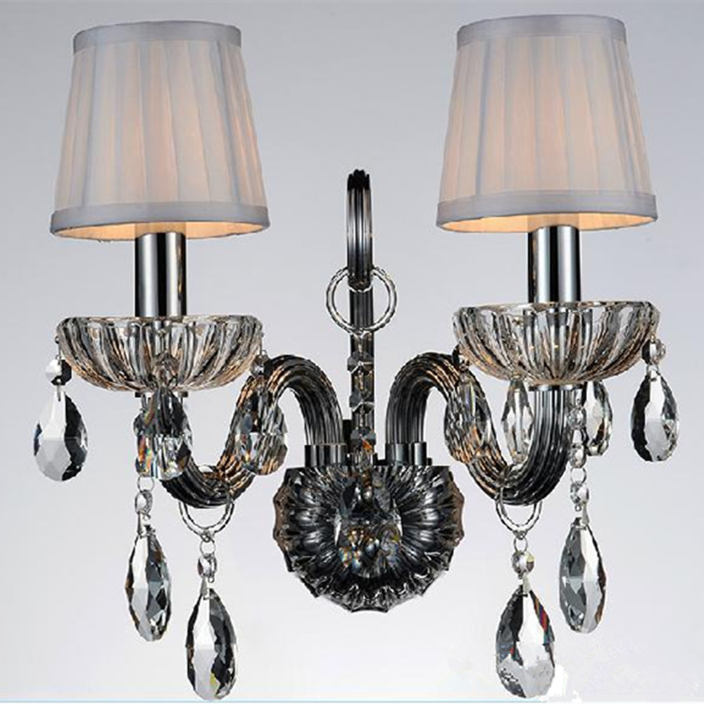 twin glass candle wall lamp wall Sconces