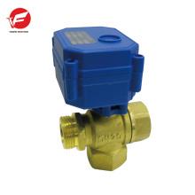 dn15 dn20 vertical type 3 way motorized brass valve instead of solenoid valve