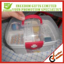 Boîtes de trousse de premiers secours portables en plastique