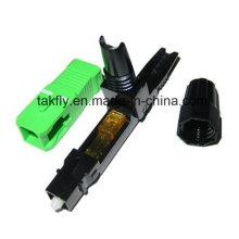 Conector rápido encaixado óptico da fibra FTTH Sc APC da fibra