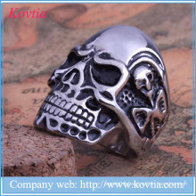 New arrival titanium steel women rings skull rings 2015