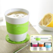 bande de vente chaude de silicone avec des tasses et des tasses en céramique