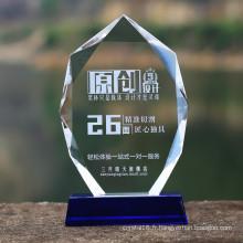 Verre en cristal Médaille en verre Trophée Prix Plaque