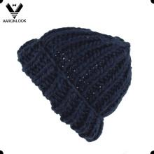 Inverno elegante grosso Crochet malha chapéu