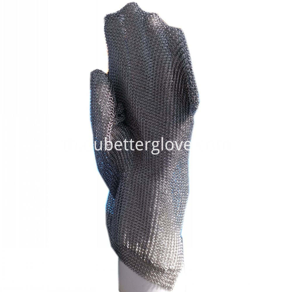 stainless steel mesh mitt glove