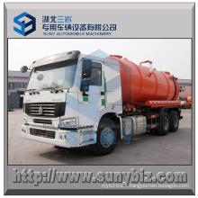6X4 Sewage Suction Truck HOWO 16 Cmb Vacuum Tanker