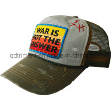 Distress Grinding Washed Patch Embroidery Leisure Trucker Hat (TMT1967)
