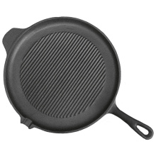 Cast iron grill pan with enamel coating