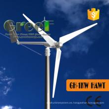 Generador de viento eléctrico para 1kw Aerogenerador horizontal