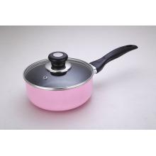 OEM Aluminum Pink Non-Stick Saucepan Milk Pot