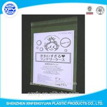 Transparente selbstklebende Plastiktüte mit bedrucktem Logo