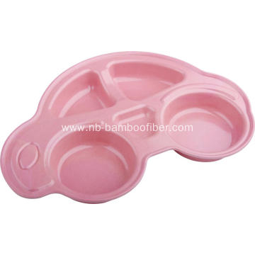 Bamboo Fiber Car Model Cute Service Plate