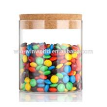 Umidade - recipiente de vidro dos doces da tabela transparente da prova com torneira