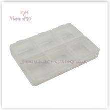 Boîte à pilules de 6 grilles, boîte à pilules en plastique, boîte à pilules blanche