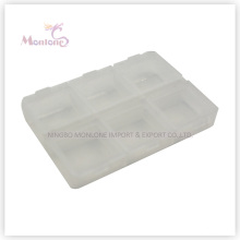 6 Grids Pill Box, Plastic Pill Box, White Pill Box