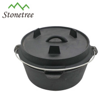 Hot sale dutch oven, cast iron pot, outdoor camping cookware
