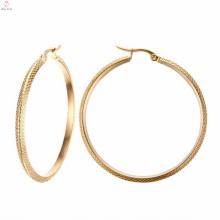 Schöne große Gold Creolen Ohrringe für Mädchen