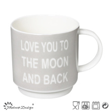 Grey Color with English Words Stable Coffee Mug